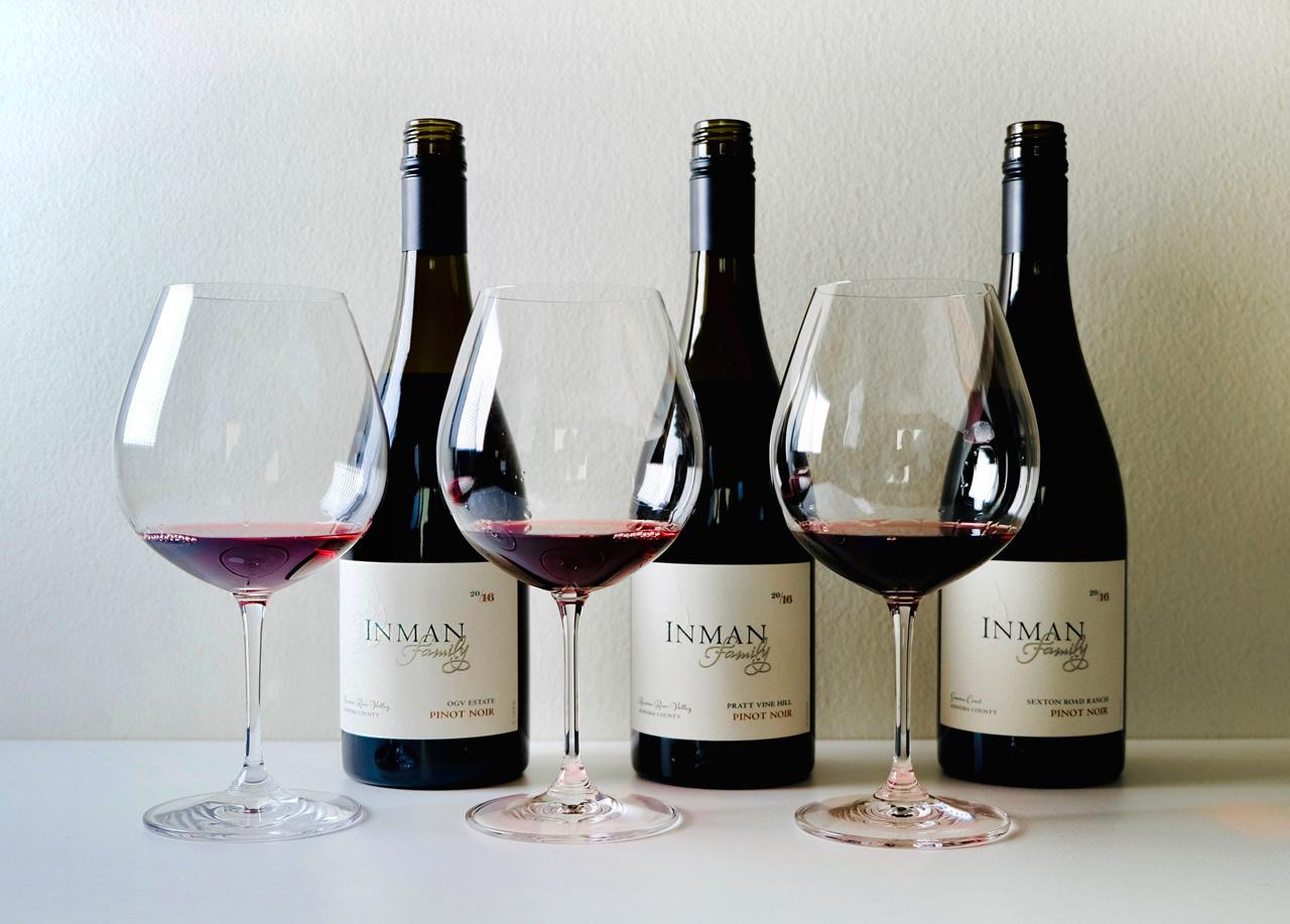Three Inman Pinot Noirs