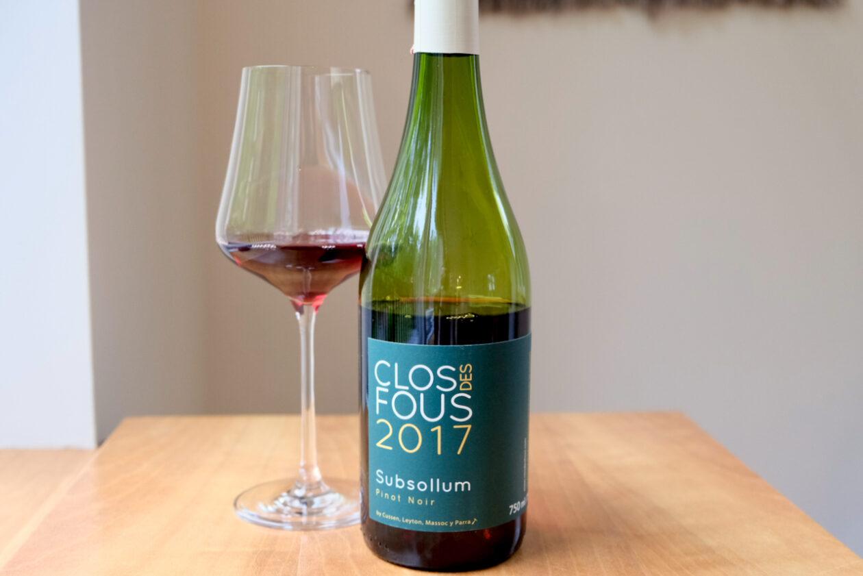 2017 Clos des Fous Pinot Noir Subsollum Aconcagua Costa